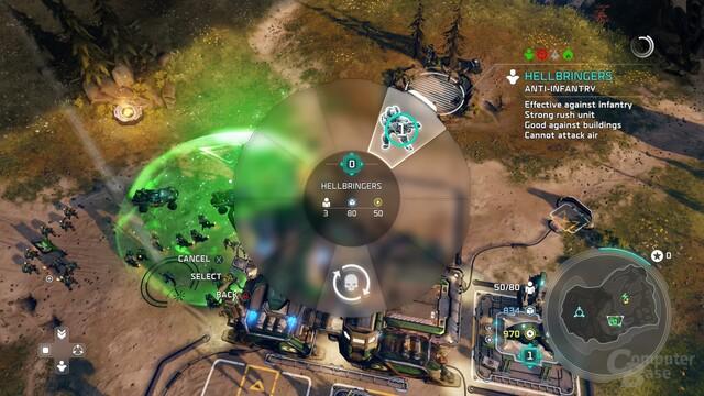 Basisbau erfolgt vollständig über Radialmenüs (Xbox One)