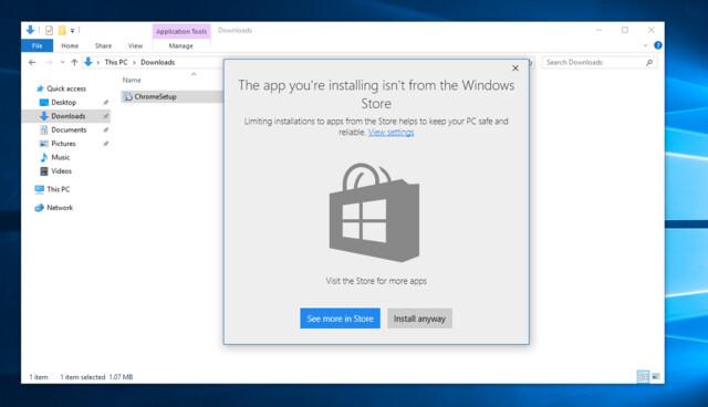 Neues Feature im Windows 10 Build 15042