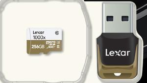 Professional 1000x microSD: Lexars UHS-II-Speicherkarte bietet jetzt 256 GB