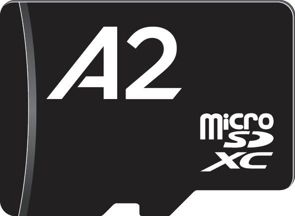microSDXC-Karte mit A2-Siegel (Symbolgrafik)