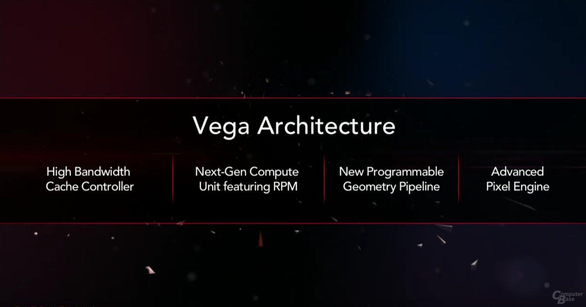 4 Säulen der Vega-Architektur