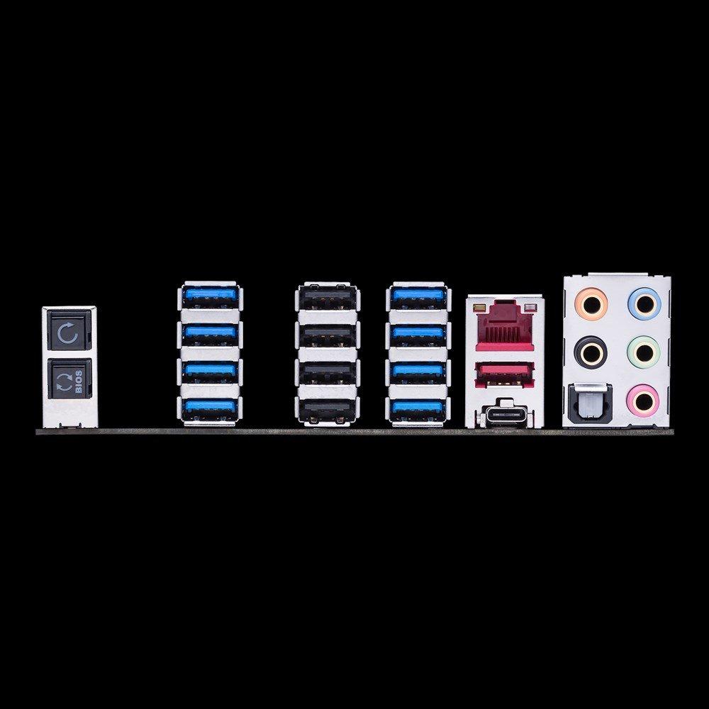 Asus ROG Crosshair VI Hero mit insgesamt 14 USB-Ports am I/O-Panel
