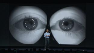Per Eye-Tracking gefilmte Augen