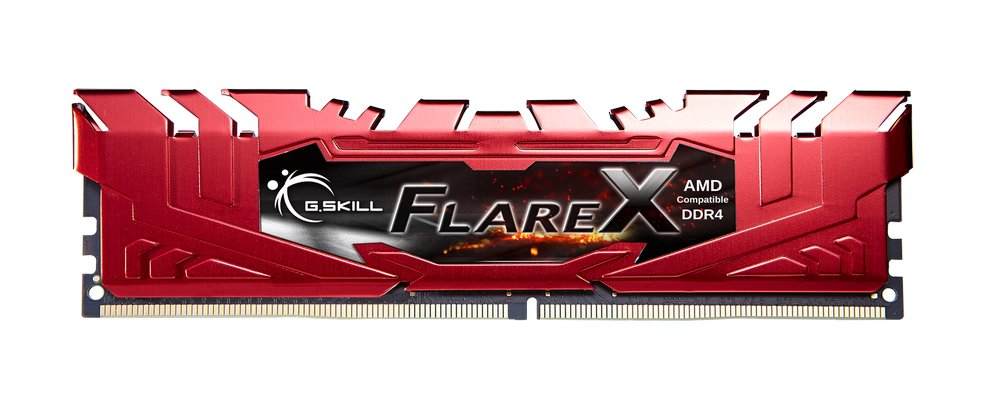 G.Skill Flare X und Fortis für Ryzen – Flare-X-Modul in Rot