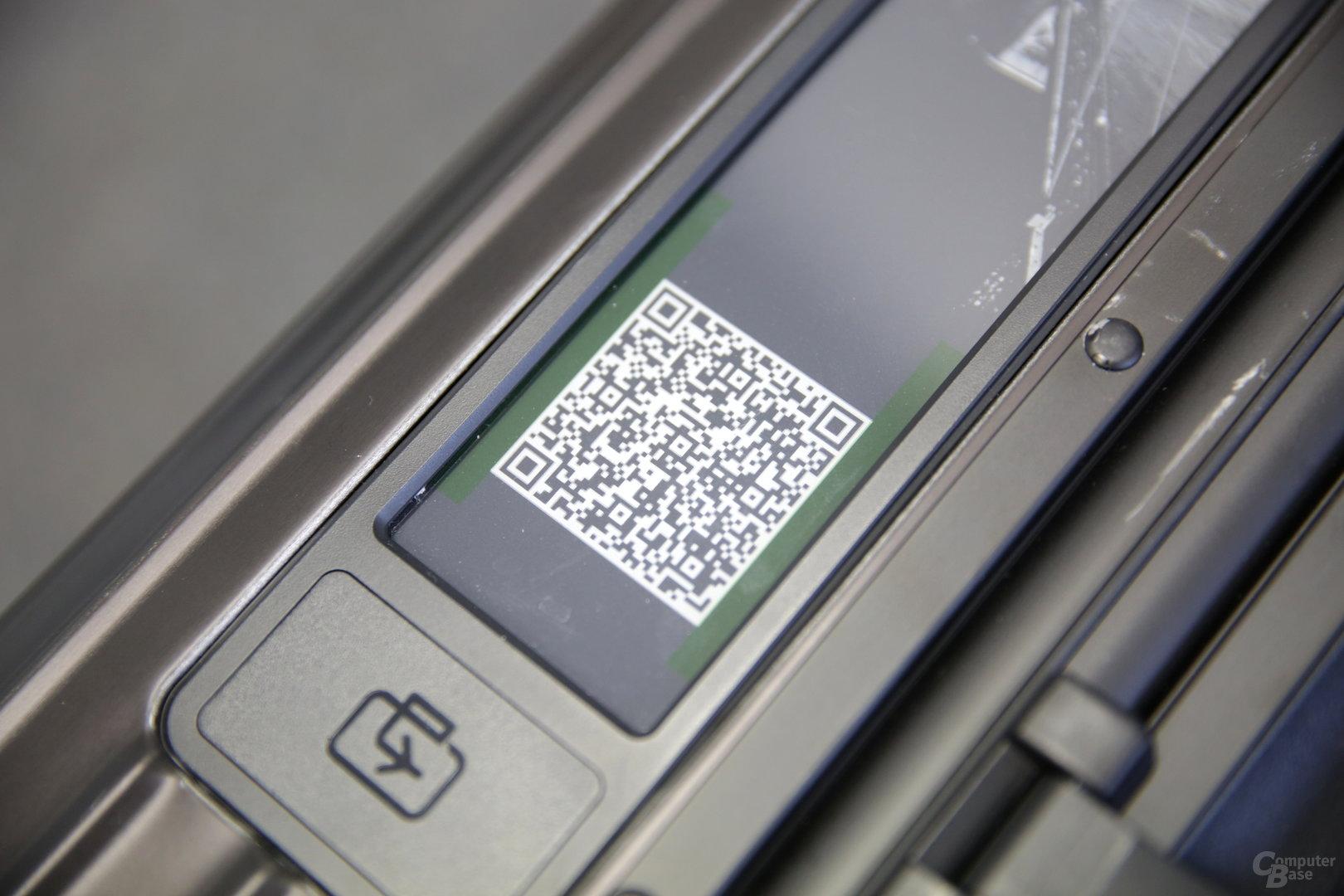 QR-Code mit Name und Adresse im Detail