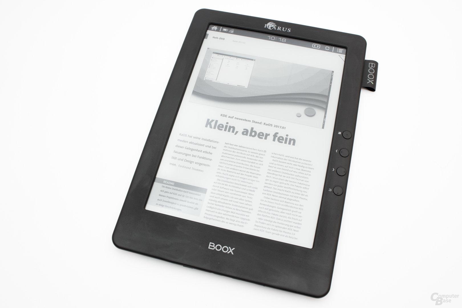 das große Display beim Icarus Illumina Pro eignet sich vor allem für E-Papers.