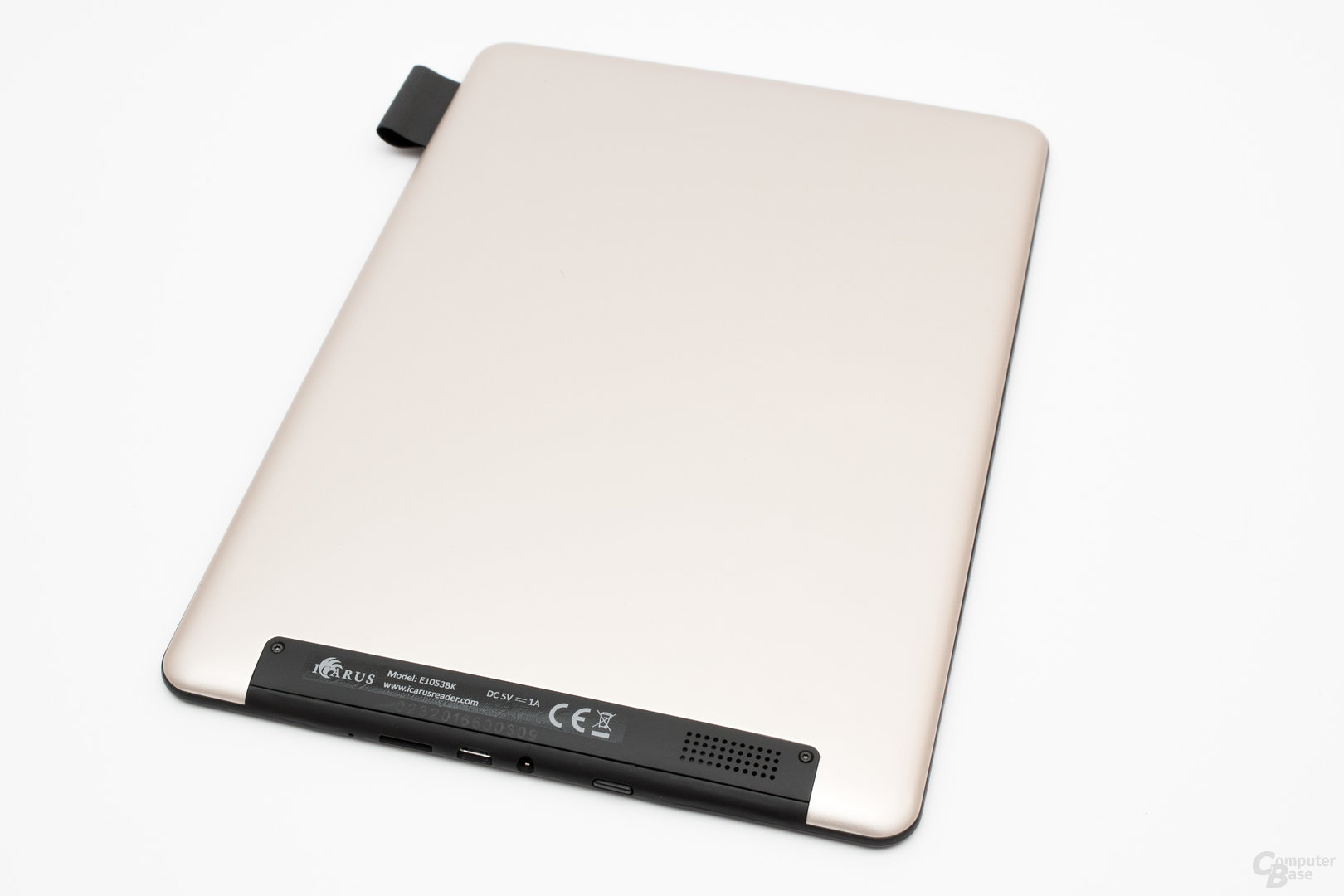Alu-Rückseite des Icarus Illumina Pro mit Tablet-Flair