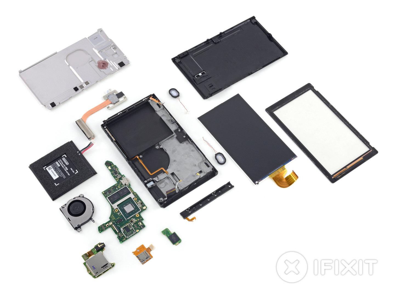 Die einzelnen Bauteile der Nintendo Switch