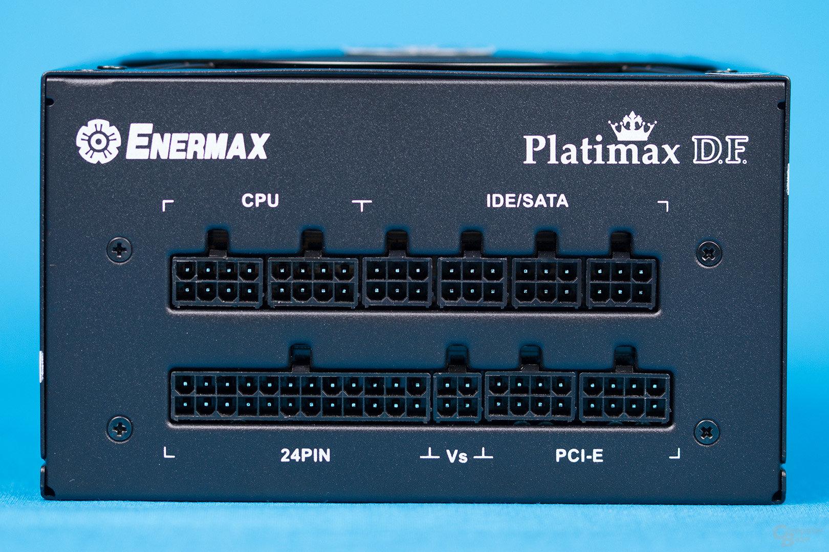 Enermax Platimax D.F. 500W – Anschlusspanel