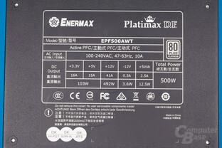 Enermax Platimax D.F. 500W – Lastverteilung