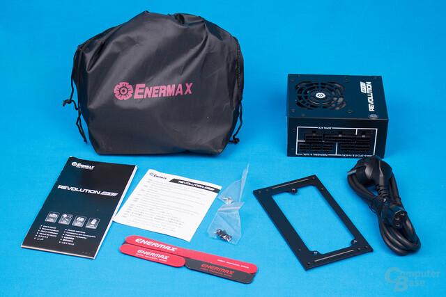 Enermax Revolution SFX 550W – Packungsinhalt