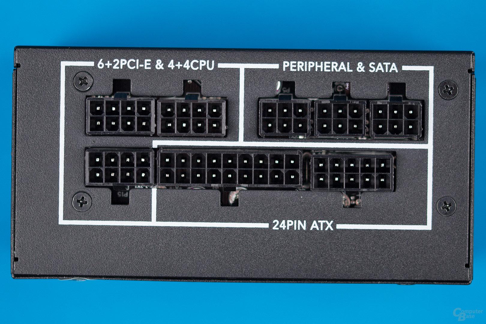 Enermax Revolution SFX 550W – Anschlusspanel