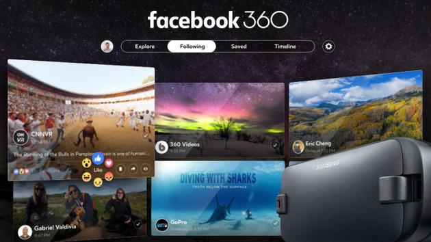Facebook 360: Neue App zum Betrachten von VR-Inhalten