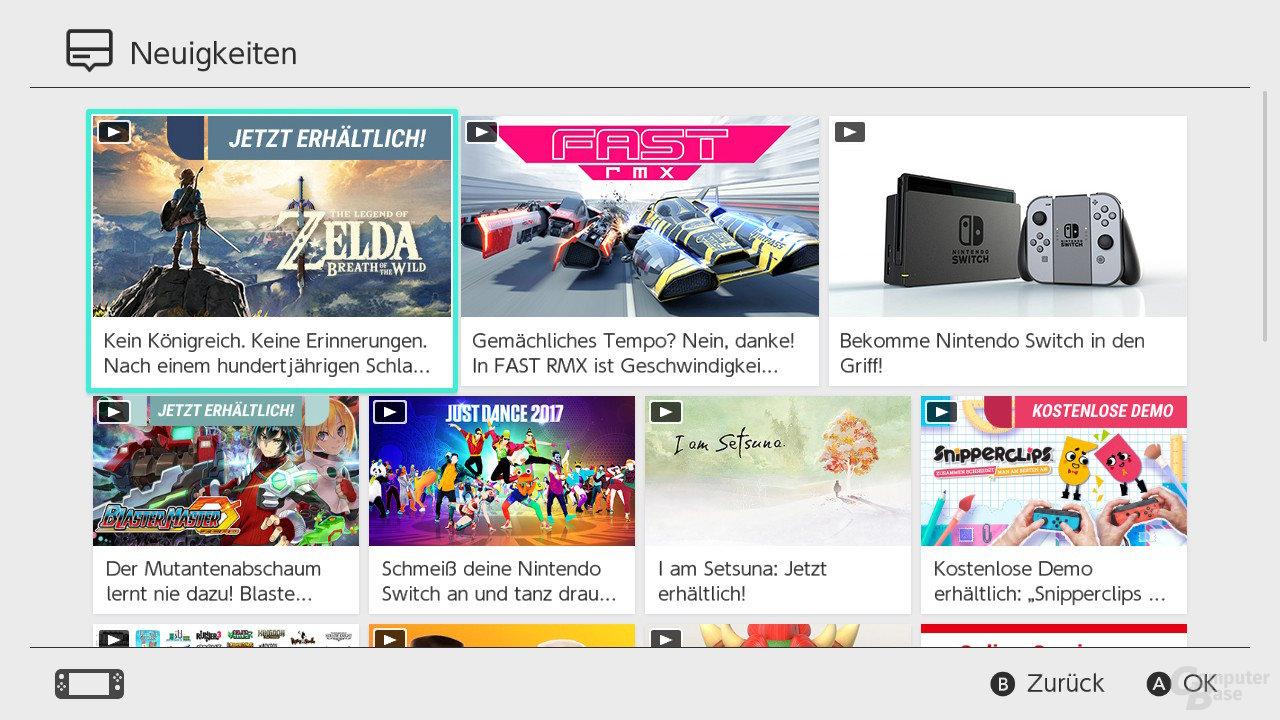 Nintendo SwitchOS: Neuigkeiten