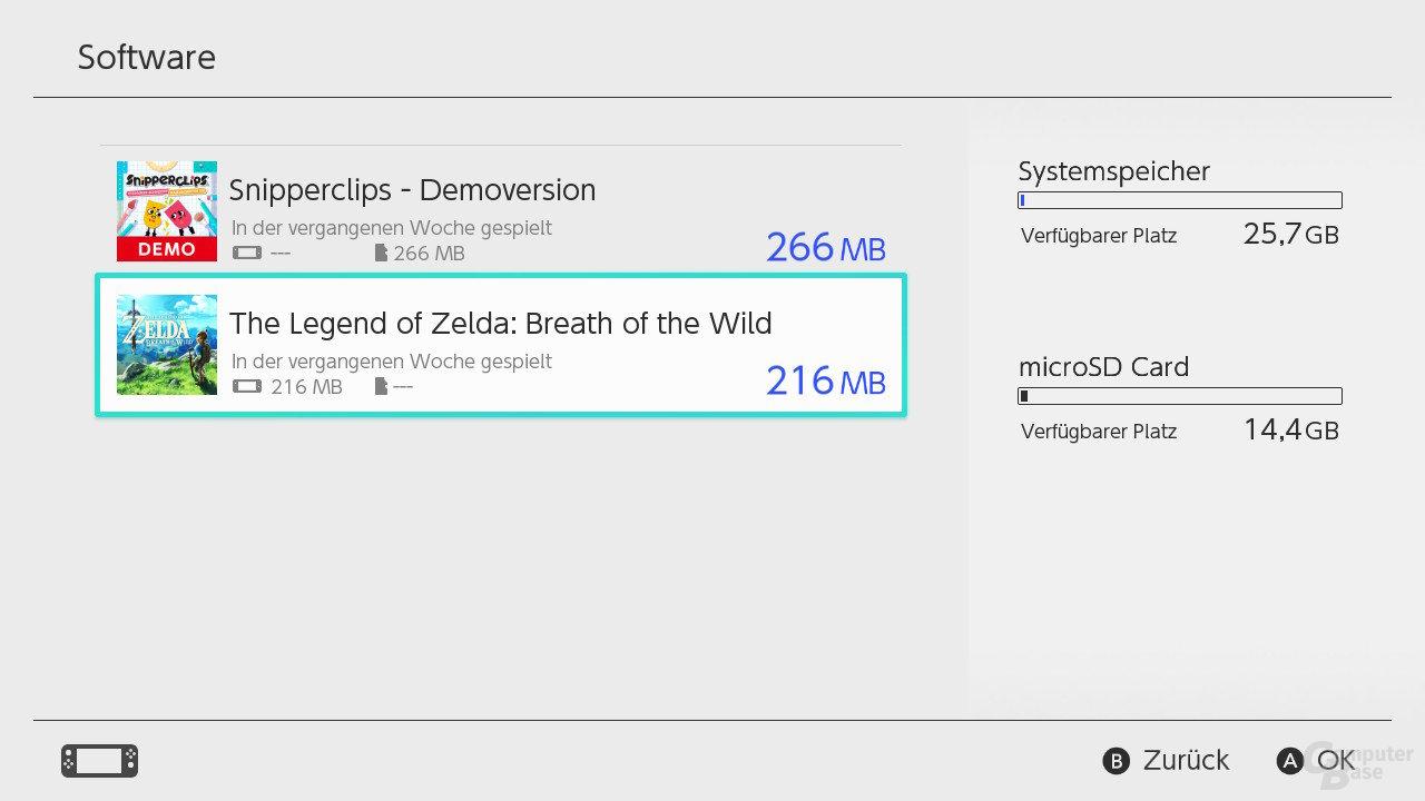 Nintendo SwitchOS: Erweiterung mittels microSD