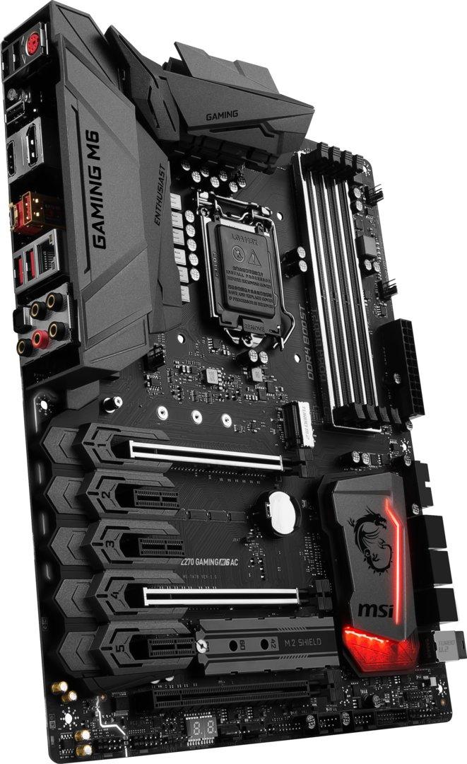 MSI Z270 Gaming M6 AC – Sockel-LGA1151-Mainboard mit U.2-Port und zwei M.2-Slots für schnelle NVMe-SSDs