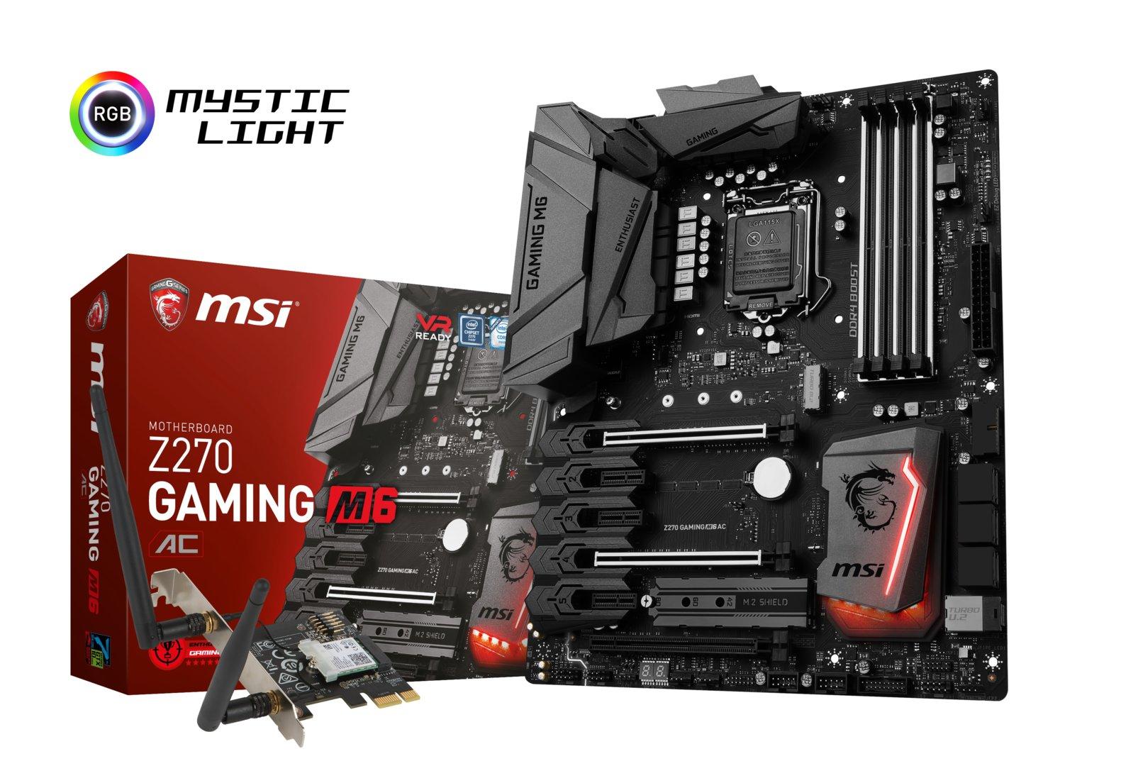 MSI Z270 Gaming M6 AC – Kaby-Lake-Mainboard mit zusätzlicher WLAN-ac-Steckkarte
