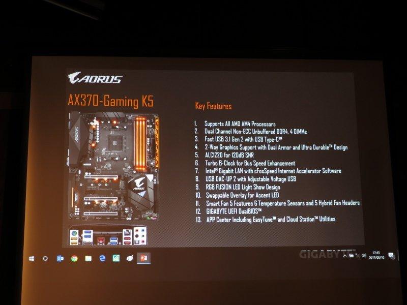Gigabyte AX370-GAMING K5