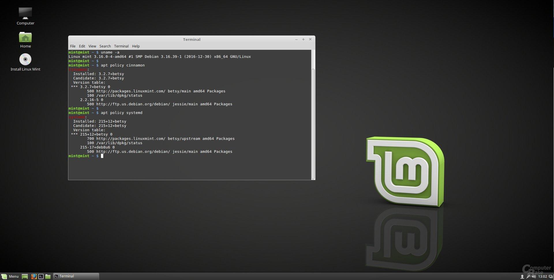 LMDE2 mit Cinnamon als Desktop