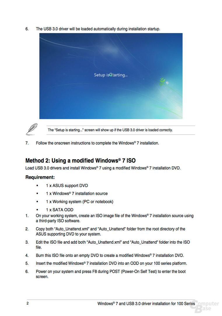 Anleitung von Asus: Windows 7 auf Ryzen installieren I
