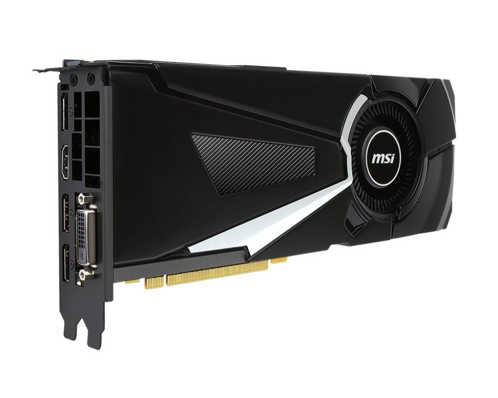 MSI GeForce GTX 1080 Aero (OC): MSI-Version des Nvidia-Referenzkühlers