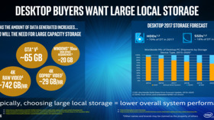 Desktop-Kunden wollen laut Intel vor allem viel Speicherplatz
