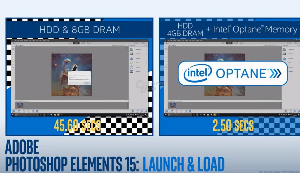 Optane mit HDD: Adobe Photoshop Elements 15