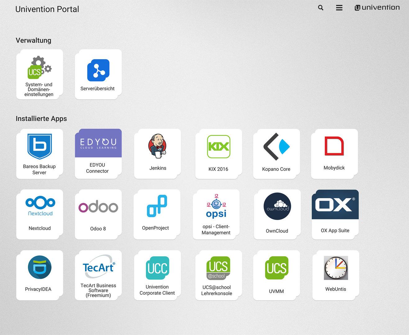 UCS 4.2 Portal