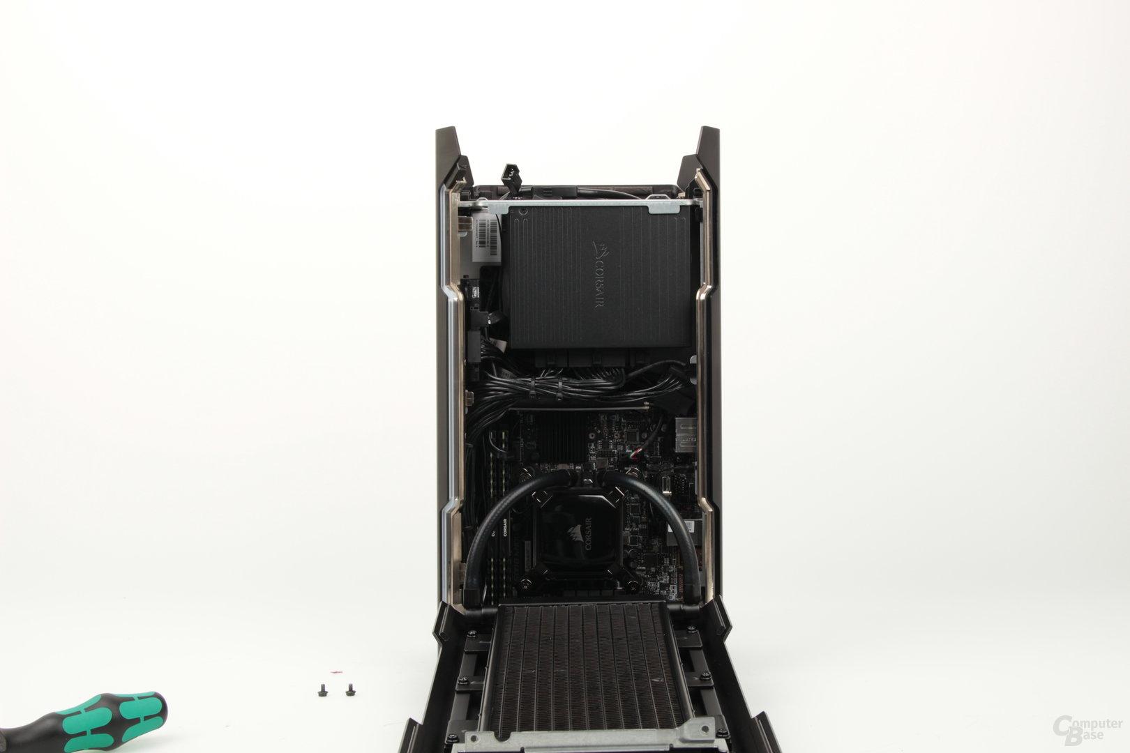 Blick auf die CPU-Kammer