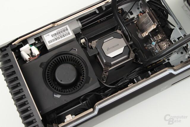 GeForce GTX 1080 mit Wakü und VRM-Lüfter