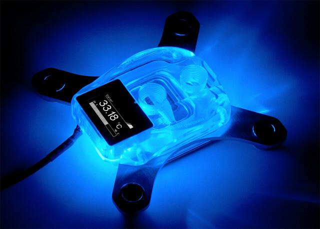 Aqua Computer Cuplex Kryos Next: Vision-Display zur Anzeige von Sensordaten