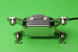Aqua Computer Cuplex Kryos Next (Vario und Vision): Über Schrauben lässt sich der Anpressdruck optimieren