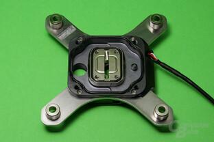 Aqua Computer Cuplex Kryos Next (Vario und Vision): Innenansicht auf den Kühlerdeckel