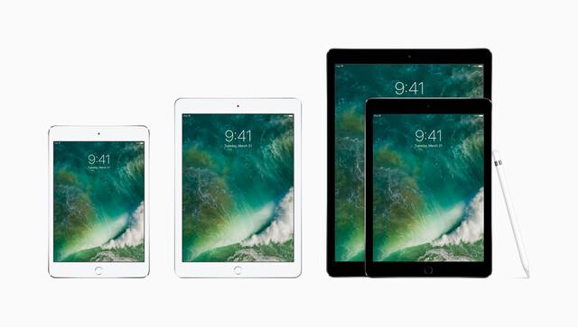 "Die neue iPad-Familie von Apple: iPad mini 4, iPad, iPad Pro 9,7"" und 12,9"""