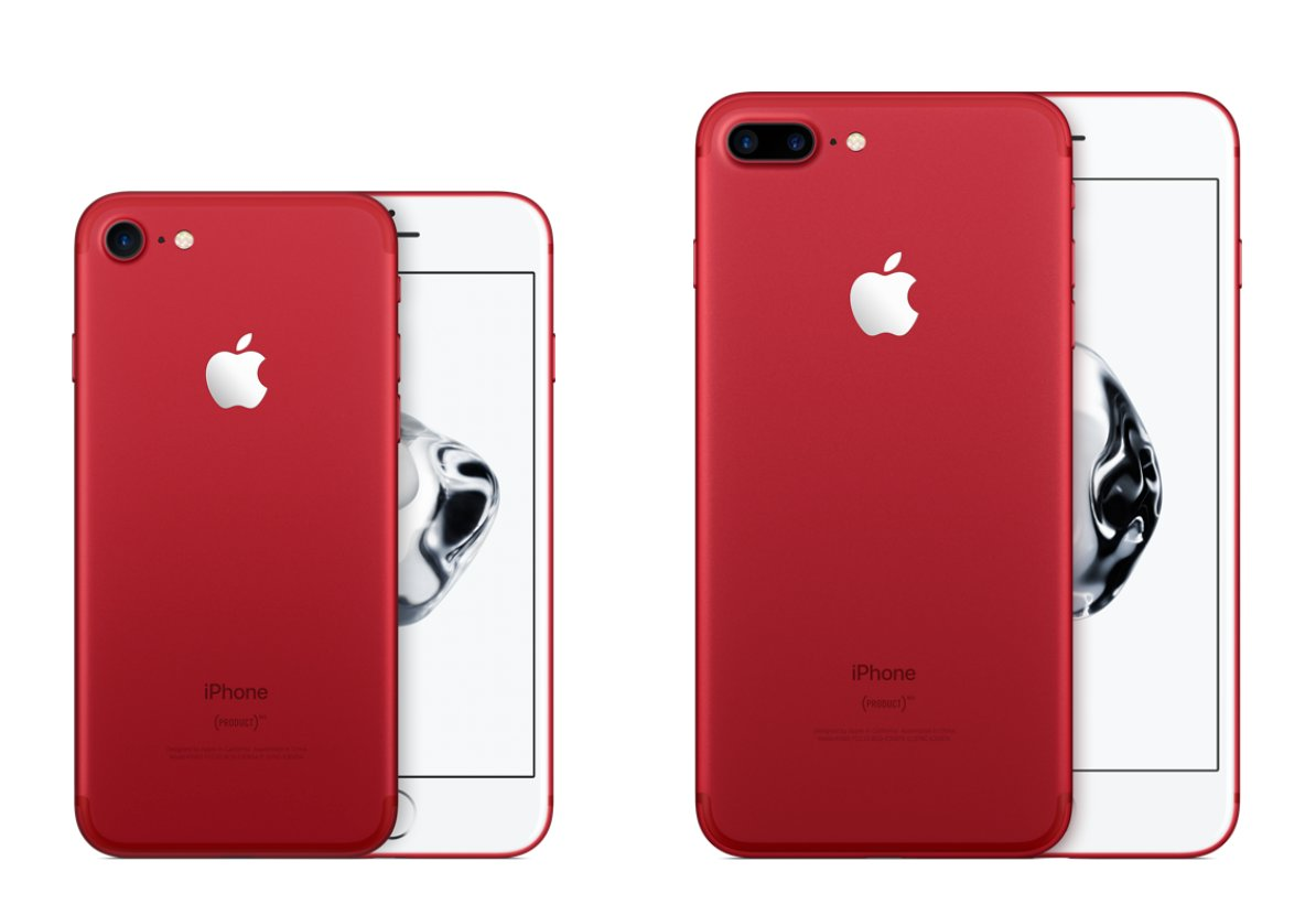 iPhone 7 und iPhone 7 Plus Product Red in Rot