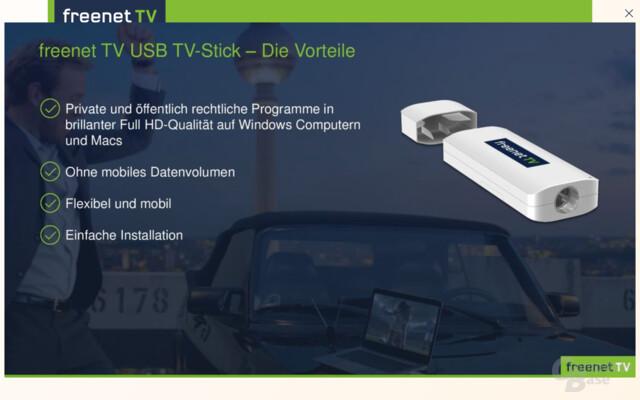 freenet tv usb tv stick empf ngt verschl sseltes dvb t2 hd computerbase. Black Bedroom Furniture Sets. Home Design Ideas