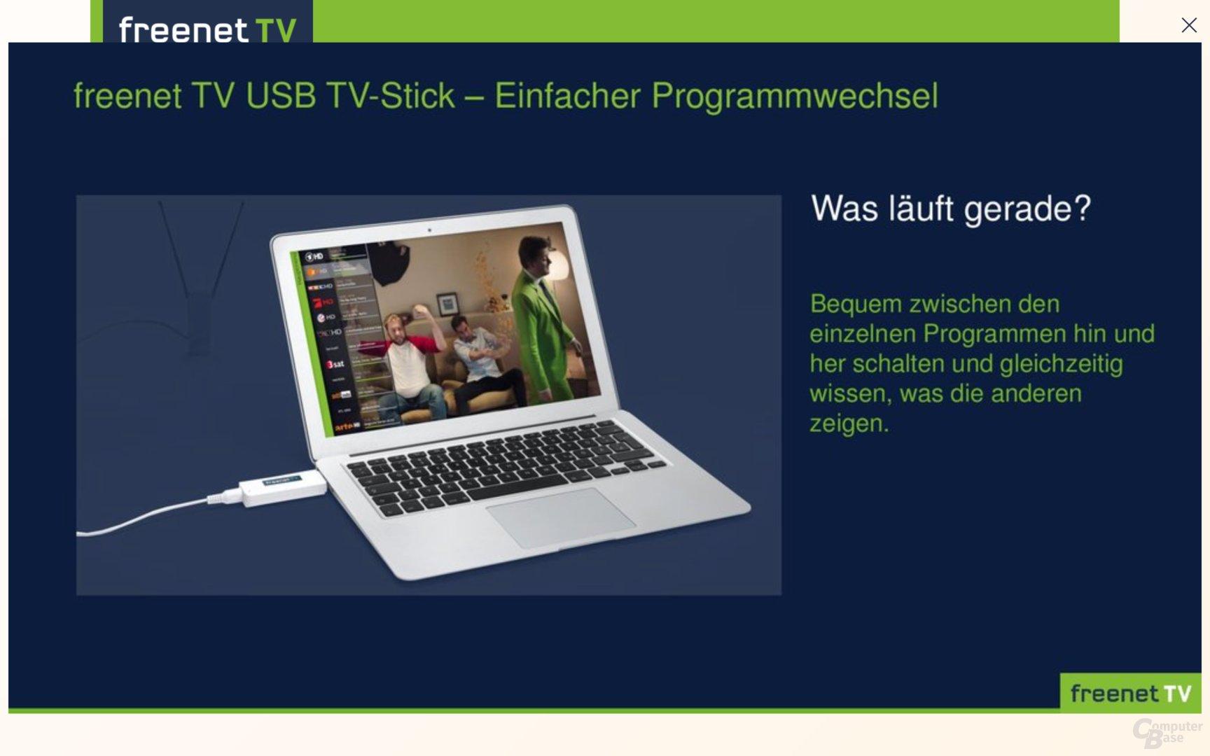 Voraussetzung sind USB 2.0 und Windows 7 / macOS 10.9
