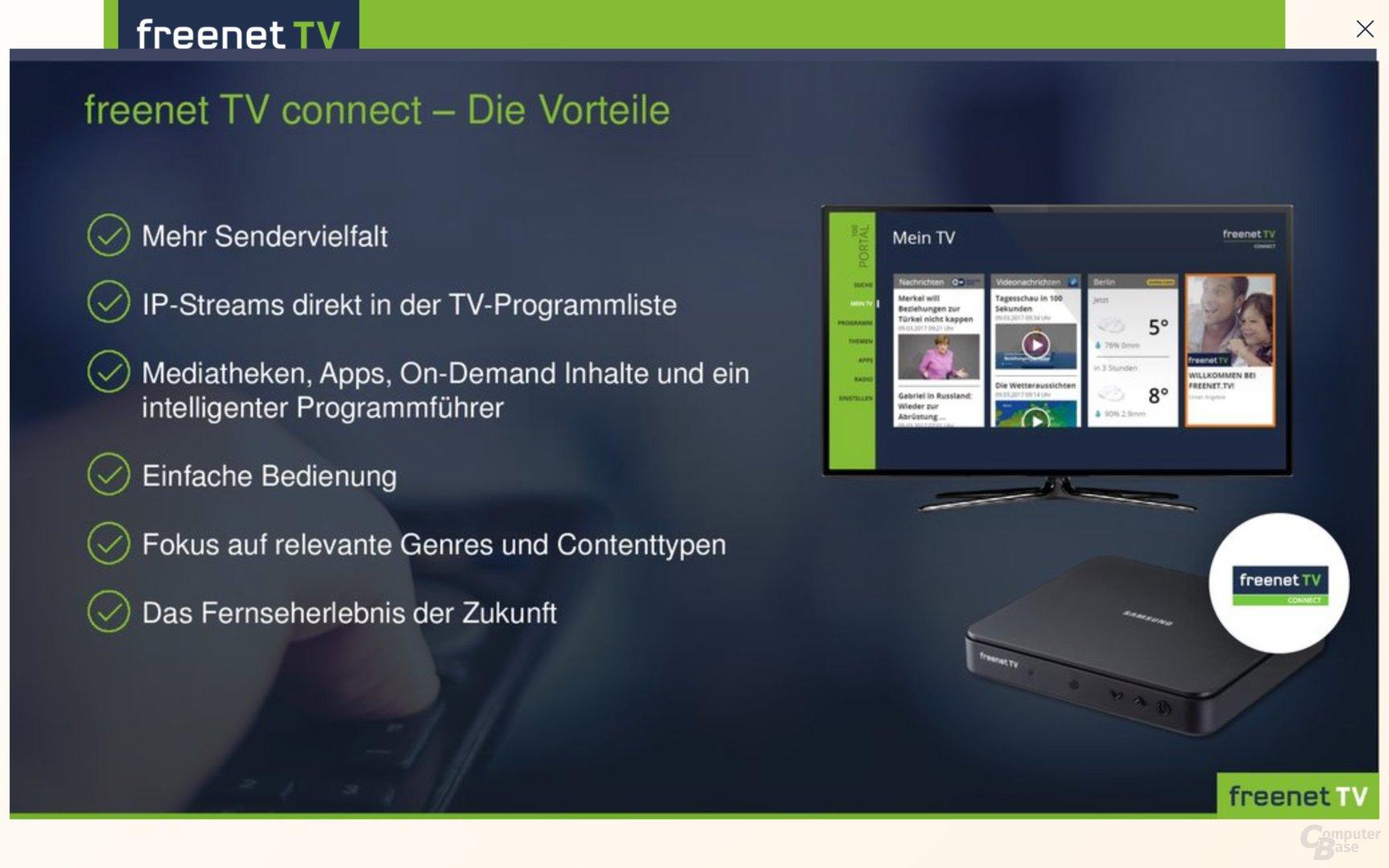 Freenet TV Connect integriert IP-Angebote