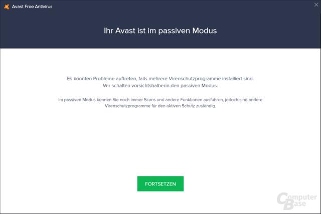 avast! bietet einen passiven Modi, falls bereits ein anderer Virenscanner installiert ist.