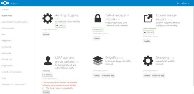 OnlyOffice-App für Nextcloud