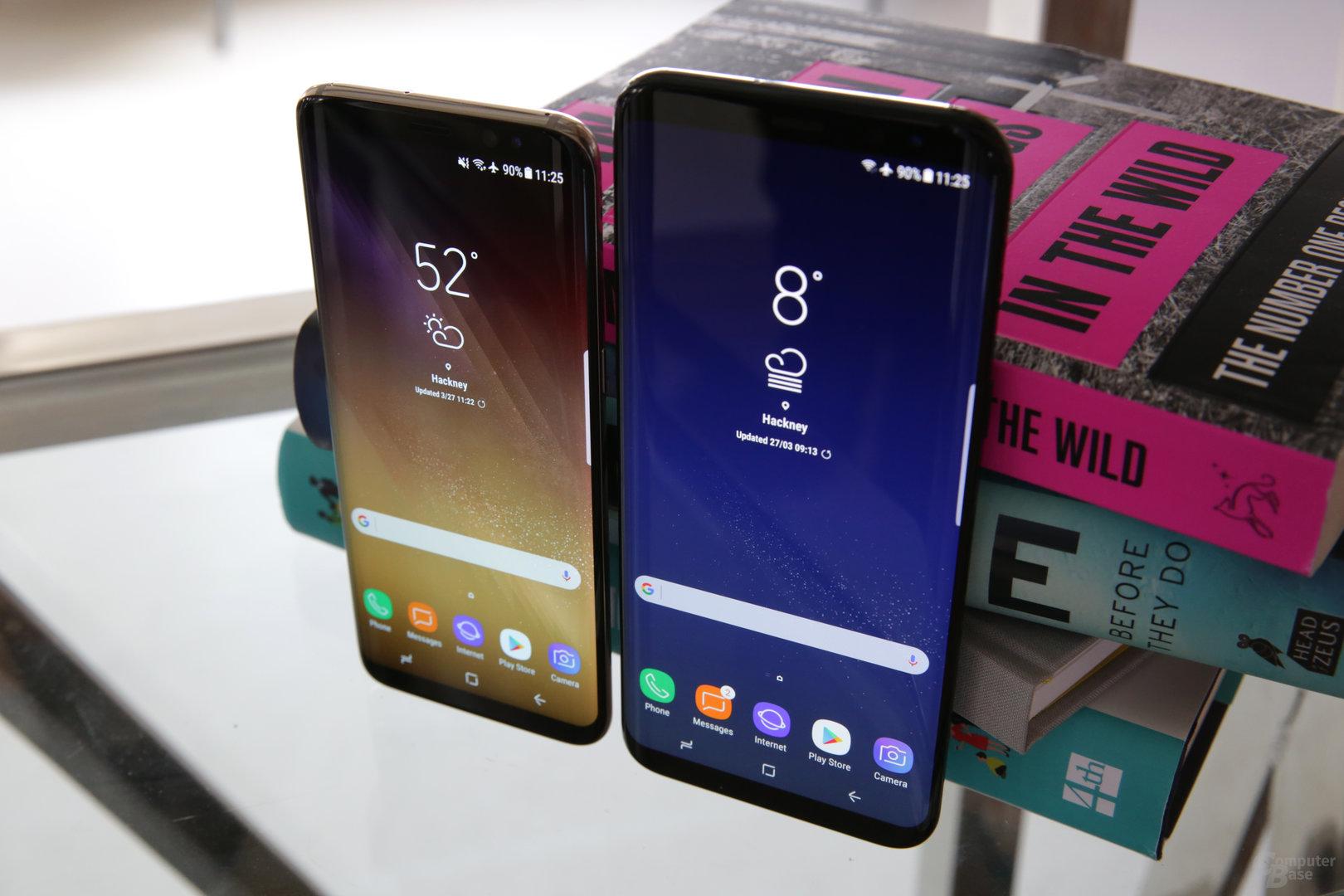 Galaxy S8 neben Galaxy S8+