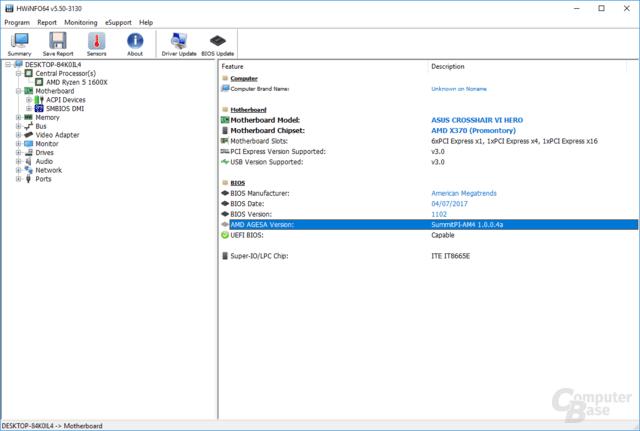 Agesa 1004 im Beta-BIOS 1102 für das Asus Crosshair VI Hero