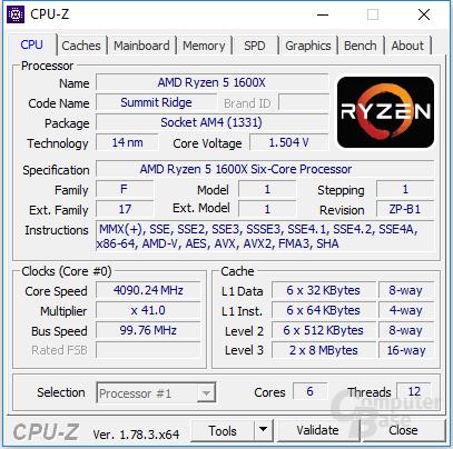 Ryzen 5 1600X mit 4,1 GHz