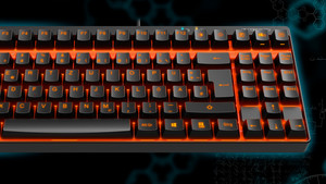 Vpro V500S: Tenkeyless-Tastatur mit roten LEDs für 50 Euro