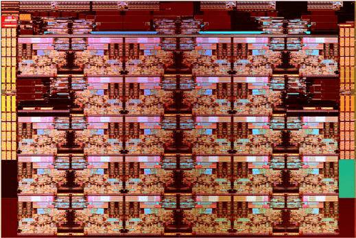 Prozessor-Die mit 28 Kernen
