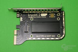 Aqua Computer kryoM.2 evo: PCIe-Erweiterungskarte mit M.2-Slot