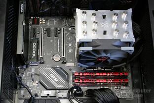Alphacool HDX M.2 im Testsystem