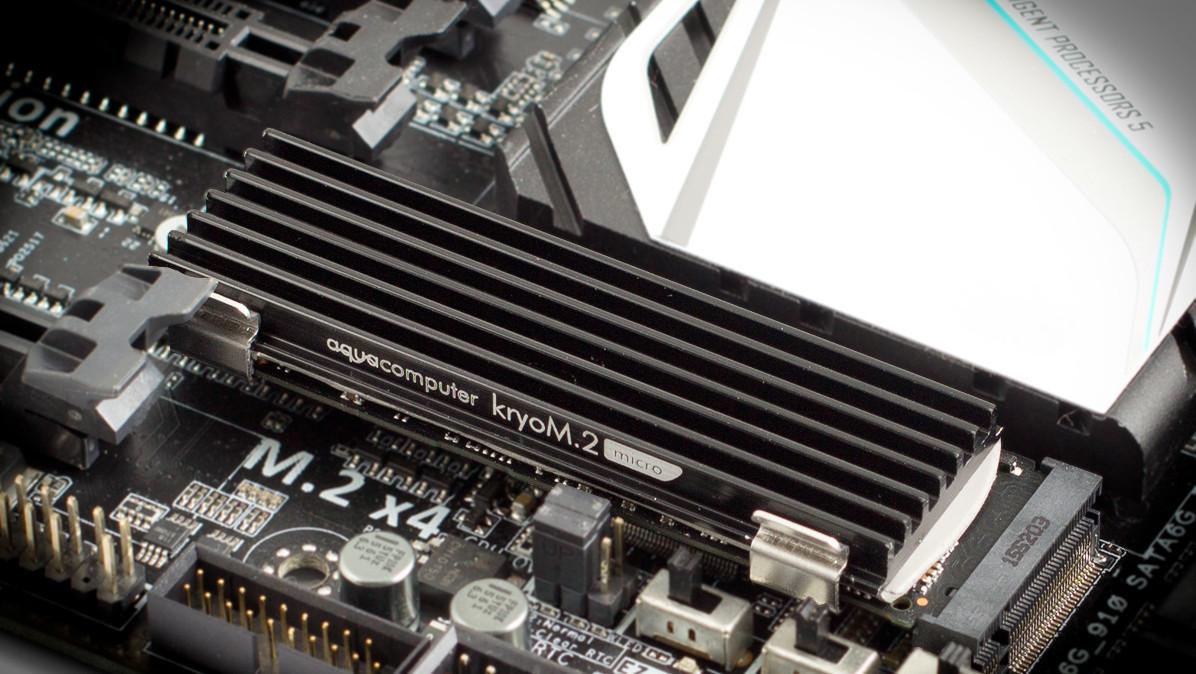 kryoM.2 evo und micro: Neue Kühler für M.2-SSDs von Aqua Computer