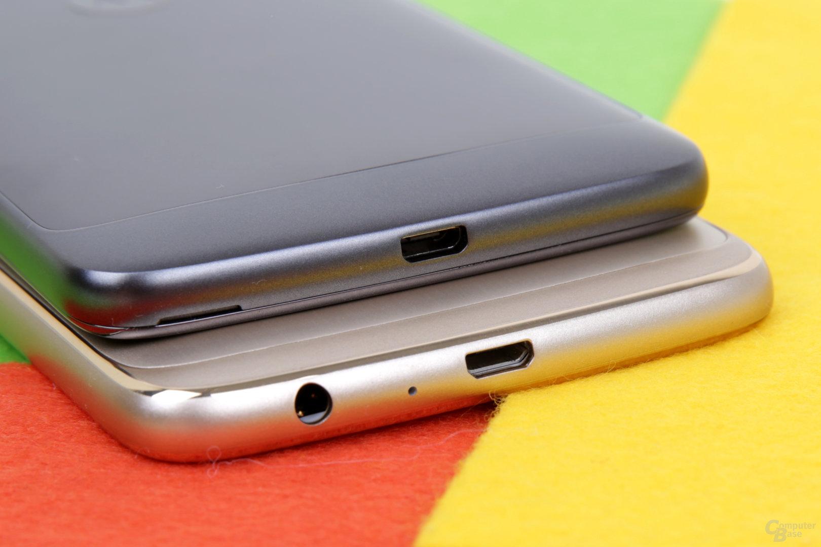 Geladen wird noch mit Micro-USB 2.0