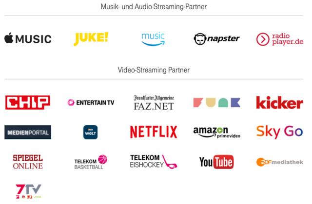 Die Stream-On-Partner zum Start am 19. April